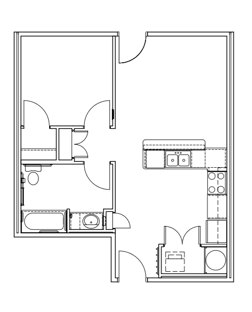 1 Bedroom and 1 Bath Unit - The Artisan Apartments - Albuquerque, New Mexico